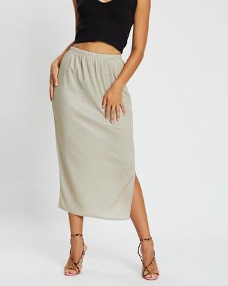 Missguided Glitter Slip Skirt