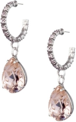 Dannijo Danni Glass Crystal Drop Earrings