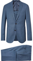HUGO BOSS Blue Nolton Slim-Fit Virgin Wool Suit