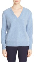 Victoria Beckham Women's Double V-Neck Felted Lambswool Sweater