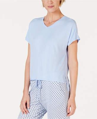 Alfani Super Soft Ribbed Pajama Top