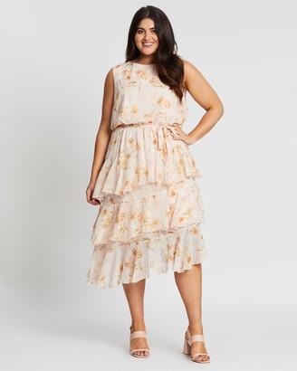Atmos & Here Louise Ruffle Midi Dress