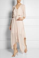 Nina Ricci Ruffle-trimmed crepe maxi dress