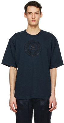 Acne Studios Navy Embroidered T-Shirt