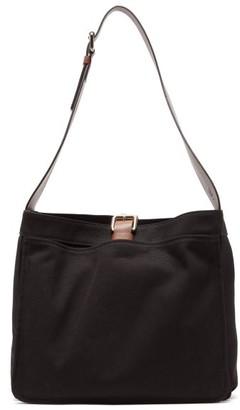 Colville - Garden Canvas And Leather Shoulder Bag - Womens - Black