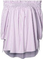 Caroline Constas striped off-shoulder blouse - women - Cotton/Acetate - L