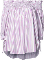 Caroline Constas striped off-shoulder blouse - women - Cotton/Acetate - S
