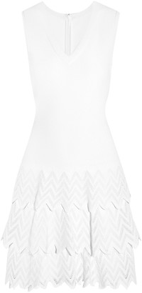 Alaia Tiered Knitted Mini Dress