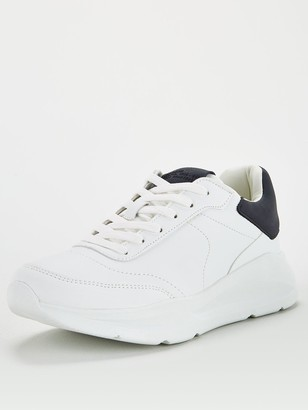 River Island Wedge Sole Trainers - White