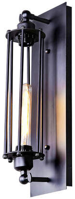 Lnc Black Metal Industrial Mini Wire Cage Wall Sconce Shade