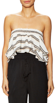 Lucca Couture Striped Bandeau High Low Top