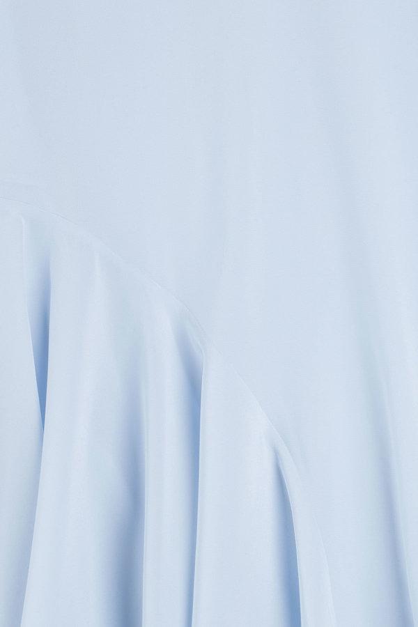 Steffen Schraut Silk Blouse with Pleated Insert
