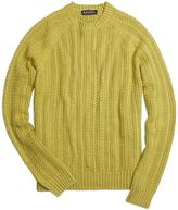 Brooks Brothers Cotton Cashmere Cable Crewneck Sweater
