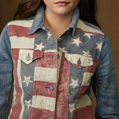 Denim & Supply Ralph Lauren American Flag Trucker Jacket