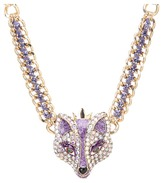 Betsey Johnson Fox Princess Frontal Necklace