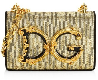 Dolce & Gabbana Girls Lurex Shoulder Bag