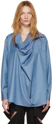 Bless Blue Neckerchiefer Shirt