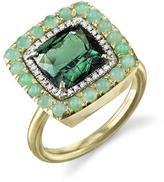 Irene Neuwirth Green Tourmaline, Chrysoprase and Diamond Ring