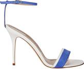 Manolo Blahnik Spezia Colorblocked Suede Sandals