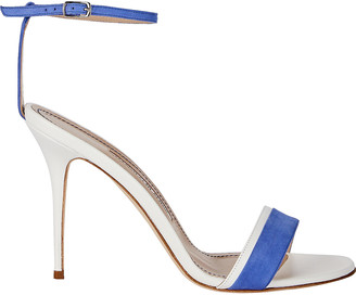 Manolo Blahnik Spezia Colorblocked Suede Sandals