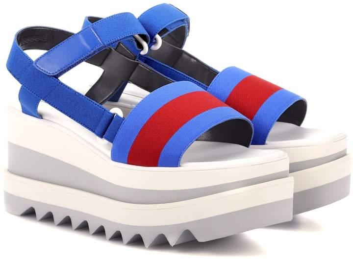 Stella McCartney Striped platform sandals