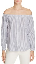 Birds of Paradis Off-The-Shoulder Stripe Shirt - 100% Bloomingdale's Exclusive