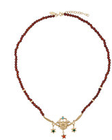 Iosselliani Puro Satyr red agate necklace