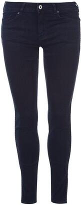 Maison Scotch Pitch Dark stripe embroidered jeans