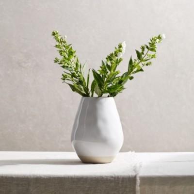 The White Company Parham Large Ceramic Vase, White, One Size