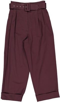 Isa Arfen Burgundy Cotton Trousers