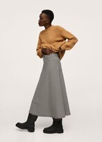Thumbnail for your product : MANGO Checked midi skirt