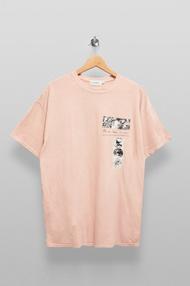 Topman Womens Pink Takeover T-Shirt - Pink