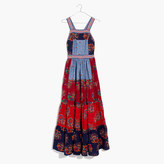 Madewell Ulla JohnsonTM Lune Patchwork Apron Dress
