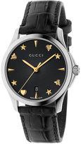 Gucci Women's Swiss Automatic G-Timeless Black Alligator Leather Strap Watch 38mm YA126469