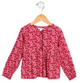 Jacadi Girls' Woven Floral Top