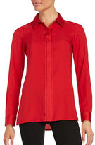 Calvin Klein Crepe Button-Front Shirt