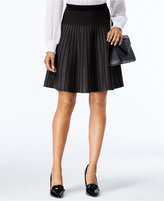 Grace Elements Striped A-Line Sweater Skirt