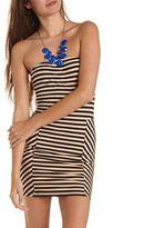 Charlotte Russe Zip-Back Striped Tube Dress