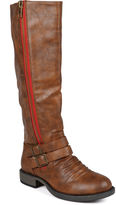 Journee Collection Lady Side-Zip Riding Boots