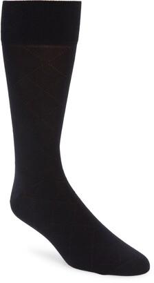 Nordstrom Signature Argyle Pima Cotton Blend Dress Socks