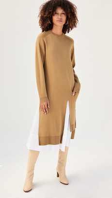 Tibi Layered Long Dickey Sweater Dress