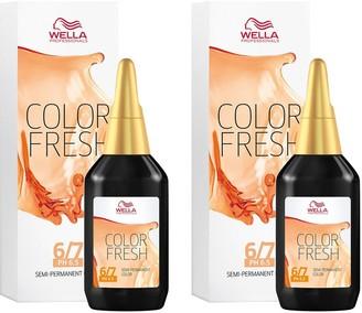 Wella Professionals Color Fresh Semi-Permanent Colour Dark Blonde 75ml Duo Pack