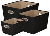 Honey-Can-Do Canvas Storage Bins, Set of 3