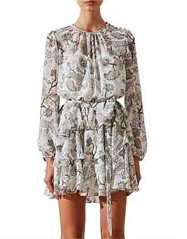Shona Joy Quinn Ruffle Shift Mini Dress W/ Belt