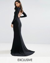 Club L Open Back Maxi Dress With Fishtail