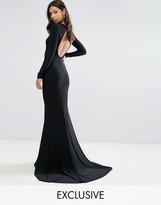 Club L Open Back Maxi Dress with Fishtail