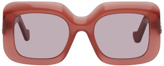 Loewe Red Oversized Square Sunglasses