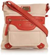 Henley Womens Charlotte Cross-Body Bag Beige/Coral