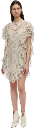 Isabel Marant Zanetti Macrame Cotton Mini Dress