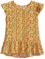 Epic Threads Floral-Print Peplum Top, Toddler Girls (2T-5T), Created for Macy's